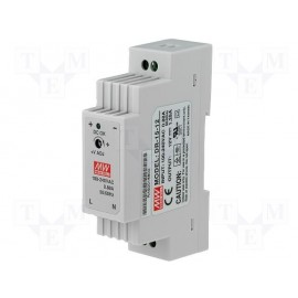 MEAN WELL AC-DC 15W 12VOUT - DR-15-12