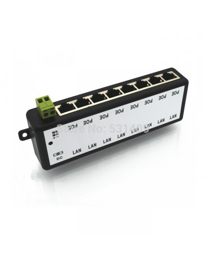 POWER OVER ETHERNET 8 porte LAN DC 9-48V