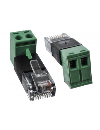 RJ45 Modular Plug to Screw Terminal Wire Adapter for PoE IDU-NODE